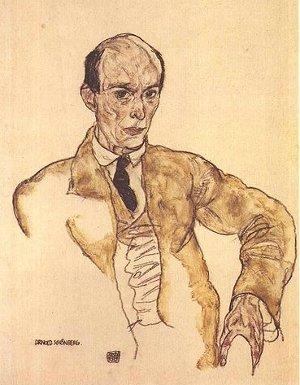 Egon Schiele: Retrato de Arnold Schoenberg (1917)