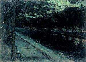 Lesser Ury: Abend am Landwehrkanal