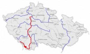 Mapa do Vltava