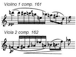 Violino 1 comp. 161 e Viola 2 comp. 162