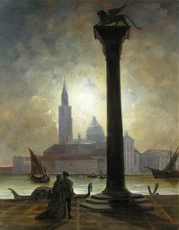 Joseph Heilmair: Vista da Piazzetta de San Giorgio ao luar