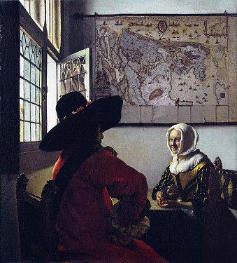 Johannes Vermeer: O soldado e a garota sorrindo