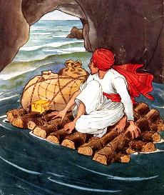 Ilustração de Rene Bull para o livro das Mil e Uma Noites
