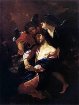 Giacinto Brandi: Cristo no jardim do Getsêmani
