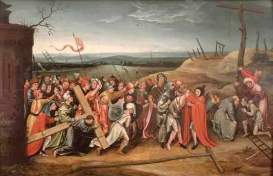 "Anônimo: Cópia de ""Cristo carregando a cruz"", de Hieronimus Bosch"