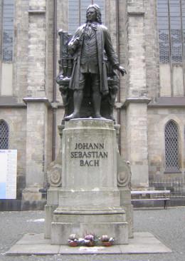 Carl Seffner: Memorial Bach em frente à Thomaskirche de Leipzig