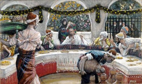 James Tissot: A refeição na casa do Fariseu