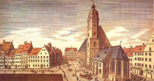 Gravura de Leipzig em 1735