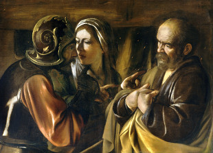 Caravaggio: A negação de São Pedro