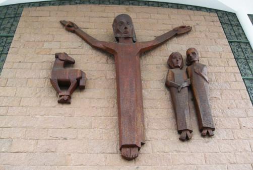 Entrada da Catedral São Paulo Apóstolo de Blumenau / SC (foto de Amancio Cueto Jr)
