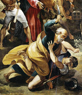 Giuseppe Cesari: Cristo feito prisioneiro (detalhe)