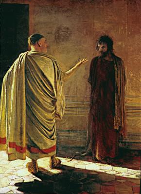 Nikolai Ge: O que é a verdade. Cristo e Pilatos