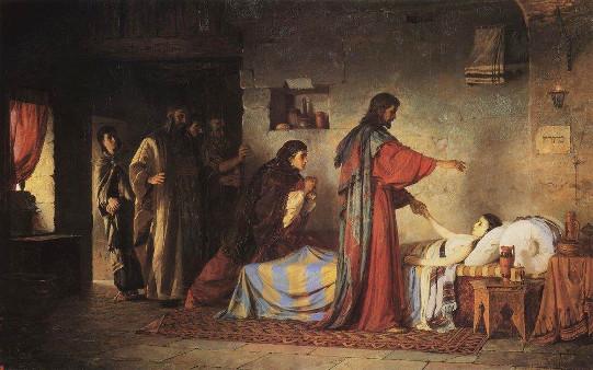 Vasiliy Polenov: Ressurreição da filha de Jairo