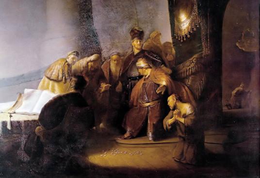 Rembrandt: Judas devolvendo as trinta moedas de prata