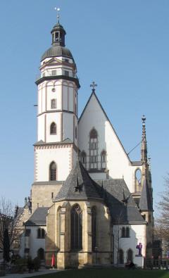 Igreja de São Tomás (Thomaskirche) de Leipzig, Alemanha (foto de Dirk Goldhahn)