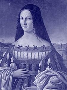 Retrato da Lucrécia histórica (artista desconhecido), filha do papa Alexandre VI