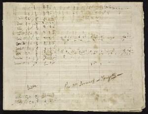 Partitura original de Lucrezia Borgia, autografada por Donizetti