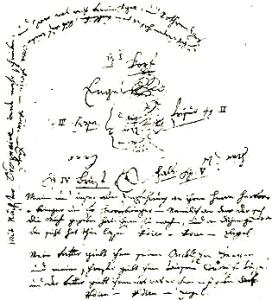 Uma das cartas criativas e liberais de Mozart à sua querida prima.