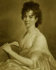Constanze, esposa de Mozart, em retrato feito já na sua viuvez, em 1802.