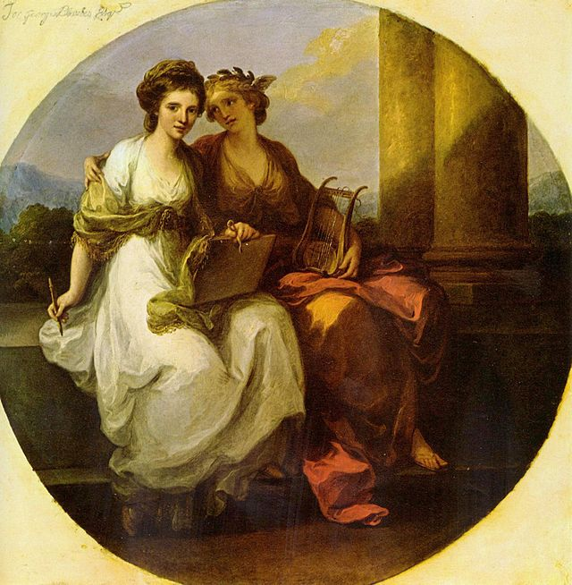 Angelica Kauffman - Allegory of poetry and music (1782)