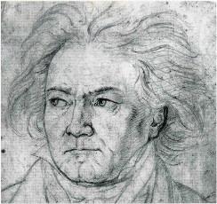Beethoven (1818), por Friedrich August von Kloeber