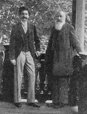 Strauss Jr e Brahms em Viena (foto de 1894)