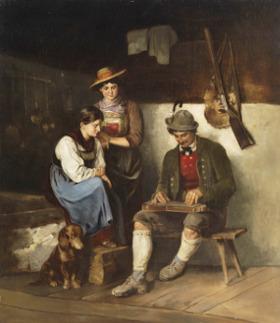 Franz von Defregger: Der Zitherspieler (O Citarista)