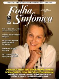 Capa da Revista Folha Sinfônica: Ano XI - No. 62