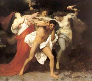 Orestes perseguido pelas Fúrias (1862), de William-Adolphe Bouguereau (1825–1905)
