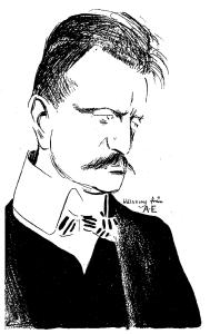 Sibelius em 1904, por Albert Engström (1869-1940)