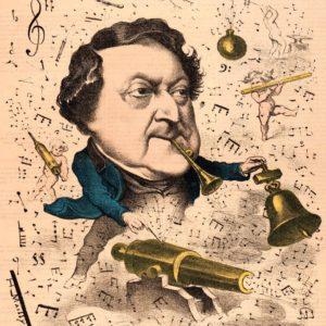 Caricatura de Rossini (1867).