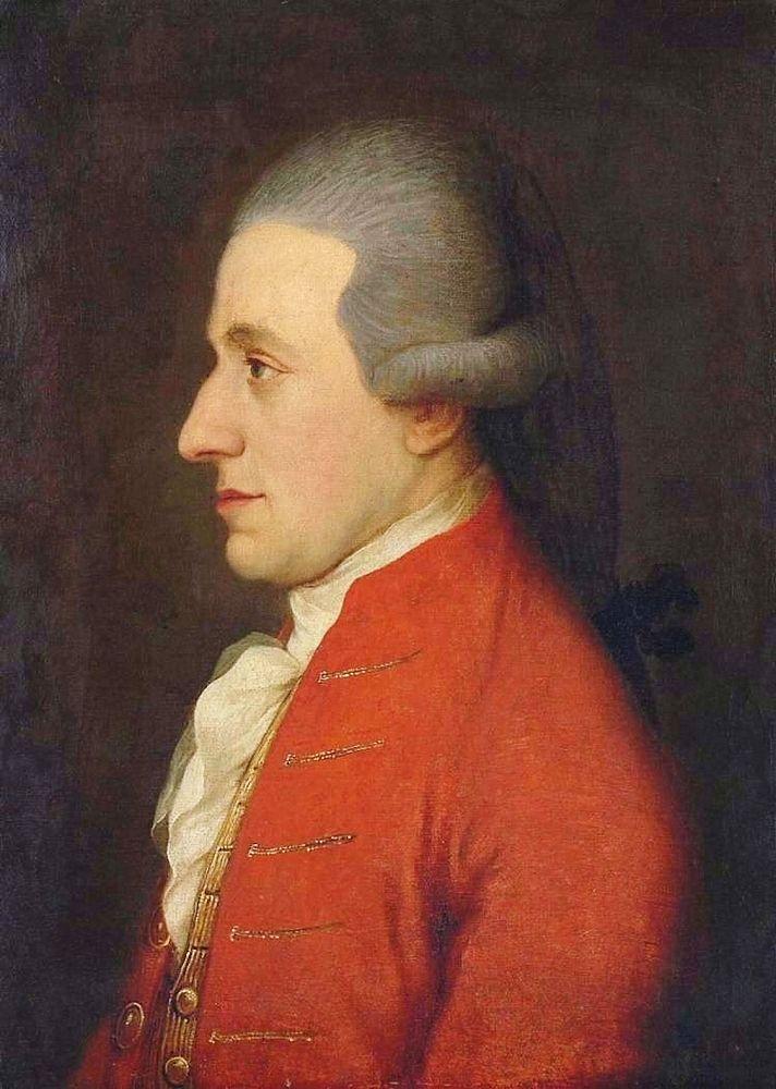 Mozart por Joseph Hickel (1783).