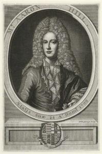 Aaron Hill por Henry Hulsbergh, 1709.