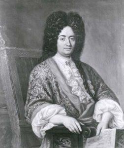 Alessandro Scarlatti, em retrato de 1692, artista pioneiro em plena atividade durante a grande reforma da ópera no Barroco.
