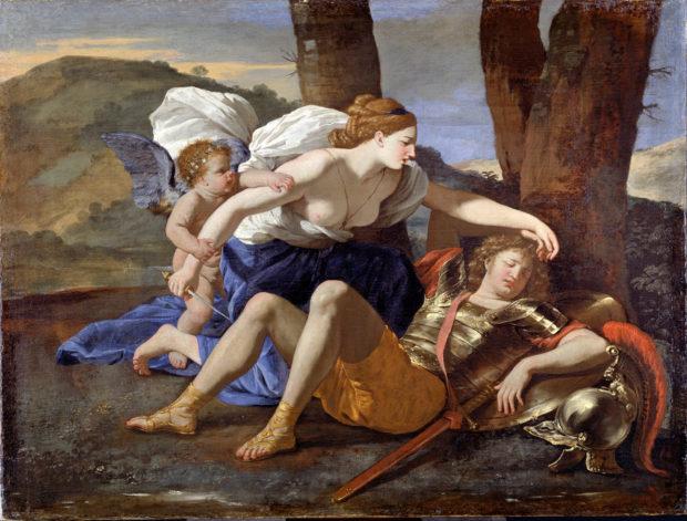 Armida encontra Rinaldo adormecido (Nicolas Poussin, 1629).