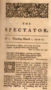 Antiga edição de The Spectator.